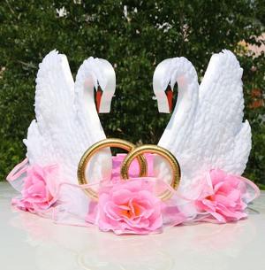 Изготовление лебедей на свадебную машину